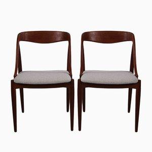 Esszimmerstühle von Edmund Jorgensen für Uldum Møbelfabrik, 1950er, 2er Set