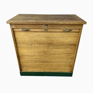 Art Deco Tambour Cabinet, 1950s