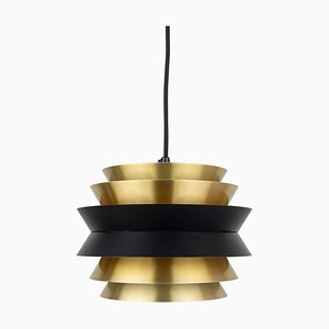 Swedish Trava Pendant Lamp by Carl Thore / Sigurd Lindkvist for Granhaga Metallindustri, 1960s