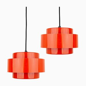 Danish Juno Pendant Lamps by Johannes Hammerborg for Fog & Mørup, 1960s, Set of 2