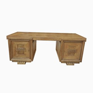 Doppelseitiger Schreibtisch aus Eiche von Charles Dudouyt, 1940er