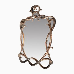 Spiegel mit Holzrahmen, 1950er