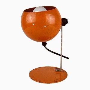 Italienische Orange Eyeball Schreibtischlampe von Targetti, 1960er