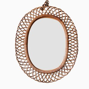 Wicker Mirror by Franco Albini, 1960s