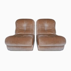 Modular Lounge Chairs, 1970s, Set of 2