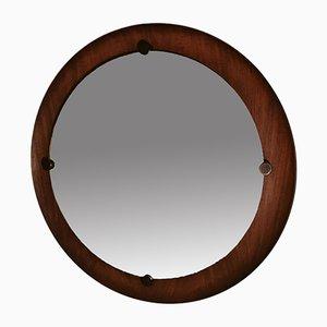 Specchio rotondo in teak di Campo e Graffi, anni '60