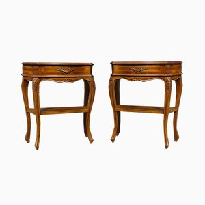 Tables de Chevet en Noyer, 1920s, Set de 2