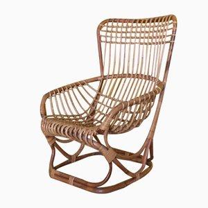 Mid-Century Bamboo Rattan Chair