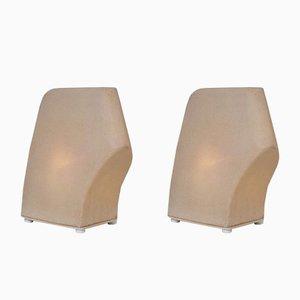 Französische Tischlampen aus Amorphy Faux Sandstein, 1970er, 2er Set