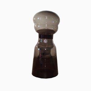 Italienische Vintage Stehlampe aus Rauchglas