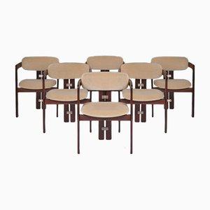 Mid-Century Pamplona Esszimmerstühle aus Palisander & Mohair von Augusto Savini für Pozzi, 6er Set