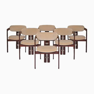 Mid-Century Rosewood & Mohair Pamplona Dining Chairs by Augusto Savini for Pozzi, Set of 6