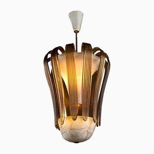 Murano Glas Deckenlampe von Tomaso Buzzi für Venini, 1930er