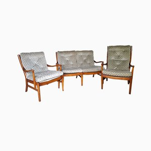 PK 1016/7/8/9 Living Room Set from Parker Knoll, 1960s, Set of 3