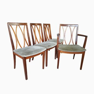 Teak Dining Chair Set Including Carver from G Plan, 1960s, Set of 4