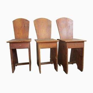 Vintage Fir Tavern or School Chair