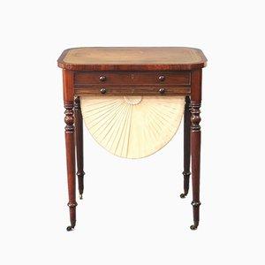 Regency Palisander Schreibtisch / Werktisch, ca. 1820