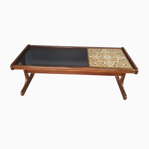 Teak Coffee Table with Glass & Tile Insert from G Plan, 1960s