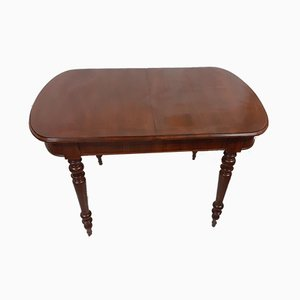 Louis Philippe Walnut Extendable Dining Table