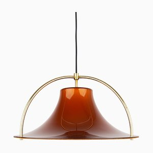 Danish Single Pendant Lamp by Johannes Hammerborg for Fog & Mørup, 1970s