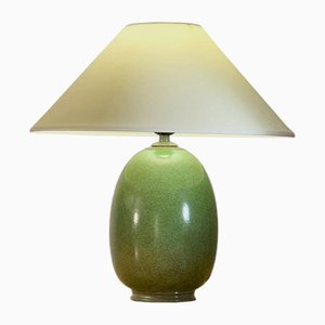 French Pistachio Green Ceramic Table Lamps by Olivier Villatte, 1980s, Set of 2