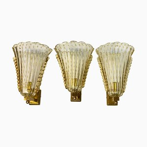 Sconces from Barovier & Toso, 1970s, Set of 3