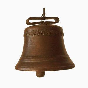 Campana antigua grande de bronce