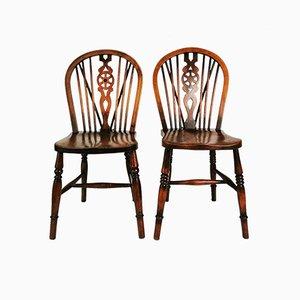 Antike viktorianische englische Windsor Stühle, 1900, 2er Set