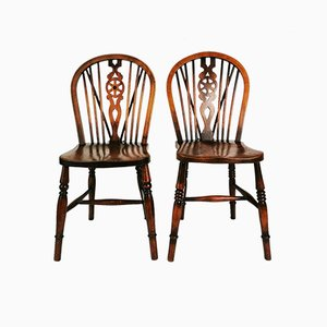 Antique Victorian English Windsor Chairs, 1900, Set of 2