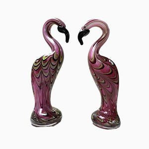 Mid-Century Murano Glas Flamingos, 1960er, 2er Set