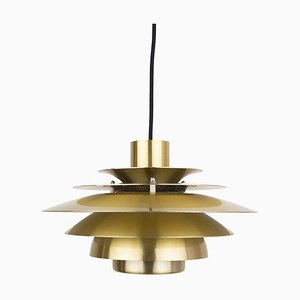 Danish Verona Ceiling Lamp by Kurt Wiborg for Jeka Metaltryk, 1980s