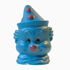 American Plastic Clown Head Cookie Jar from SPS, 1960s