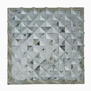 Quadratische Deckenlampe, 1960er