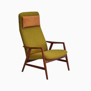 Restored Wool Kontur Armchair by Alf Svensson for Fritz Hansen, 1960s