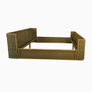 Wicker Bed by Adalberto Dal Lago, 1960s