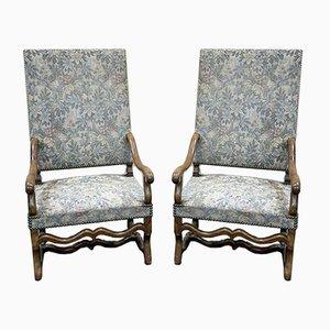 Walnut Lounge Chairs, 1950s, Set of 2