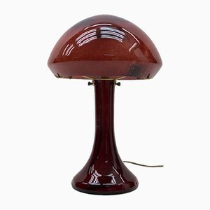 Glass Table Lamp from La Rochere, 1970s