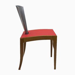 Italian Wood & Metal Fan Chair from Cattelan, 1980s