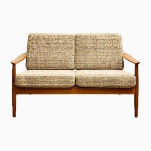 Dänisches Teak 2-Sitzer Sofa von Arne Vodder für France & Søn / France & Daverkosen, 1950er