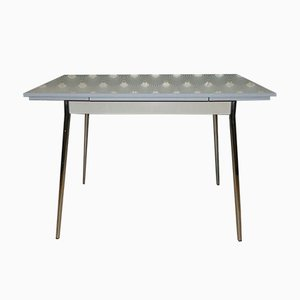Chrome & Formica Extendable Kitchen Table with Drawer from Müller, 1950s