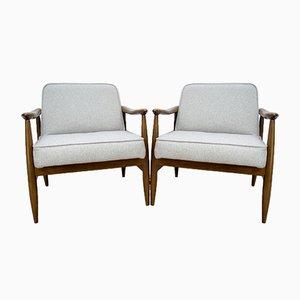 GFM-87 Armchairs by Juliusz Kedziorek for Gościcińskie Furniture, 1960s, Set of 2