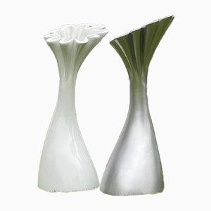 Esculturas Tulip modernistas grandes. Juego de 2