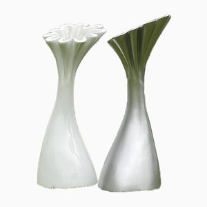 Large Modernist Tulip Sculptures, Set of 2