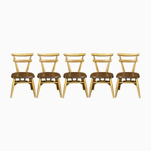 Yellow Dot Stackable School Chairs by Lucian Ercolani for Ercol, 1950s, Set of 5