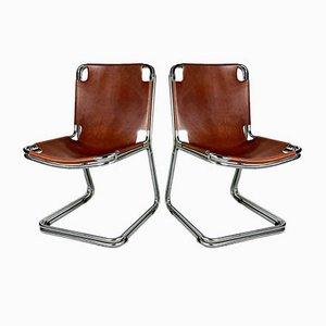 Chaises de Salon Mid-Century en Chrome Bolognese par Gastone Rinaldi, 1960s, Set de 4
