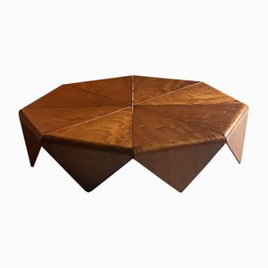 Jorge Zalszupin Petals Imbuia Coffee Table by L'atelier, 1960s