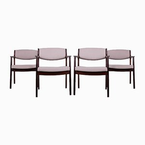 Rosewood Armchairs by Erik Buch for Ørum Møbelfabrik, 1960s, Set of 4