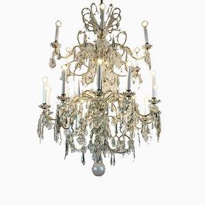 Large Antique Crystal Chandelier
