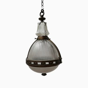 Vintage French Pendant Lamp from Holophane