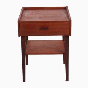 Dunkler Vintage Teak Nachttisch, 1950er